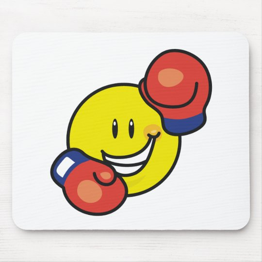 Smiley Boxing Mouse Pad