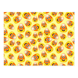 Smiley Candy Corn Post Card
