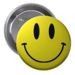 Smiley-Cara Pin Redondo De 3 Pulgadas