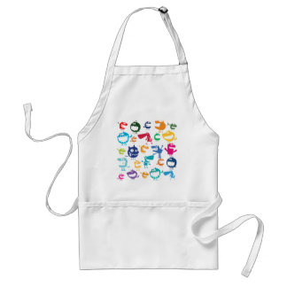 Smiley Cartoon Ghost Adult Apron
