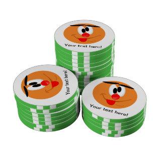 Smiley cartoon set of poker chips
