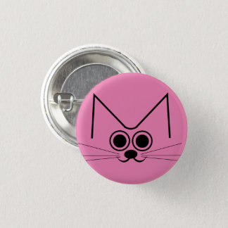 Smiley Cat Pinback Button