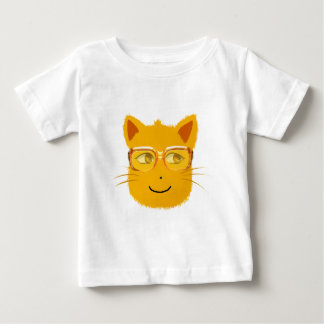 Smiley Cat with sunglass Baby T-Shirt