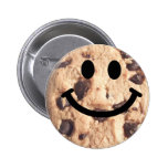 Smiley Chocolate Chip Cookie Button