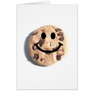Smiley Chocolate Chip Cookie Card