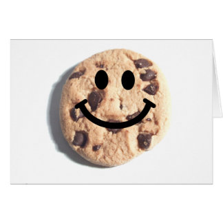 Smiley Chocolate Chip Cookie Greeting Card