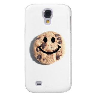 Smiley Chocolate Chip Cookie Samsung Galaxy S4 Covers