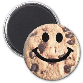 Smiley Chocolate Chip Cookie Magnet