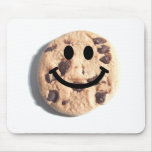 Smiley Chocolate Chip Cookie Mouse Pad