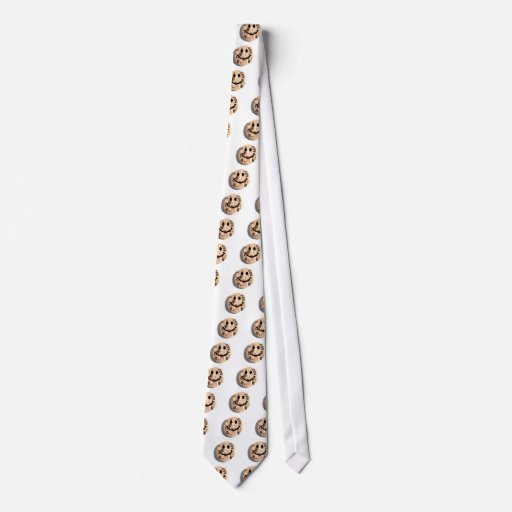 Smiley Chocolate Chip Cookie Neck Tie