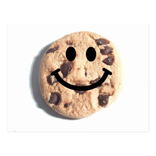 Smiley Chocolate Chip Cookie Postcard