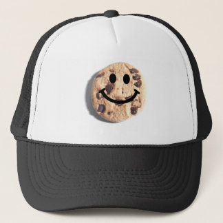 Smiley Chocolate Chip Cookie Trucker Hat