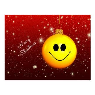 Smiley Christmas Postcard