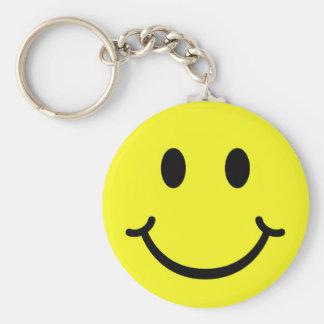 Smiley clásico llavero redondo tipo pin