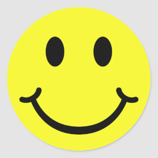 Smiley clásico pegatina redonda