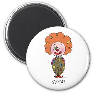 Smiley clown 2 inch round magnet