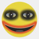 Smiley Clown Classic Round Sticker