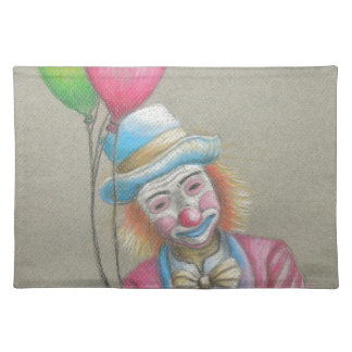 smiley clown cloth placemat