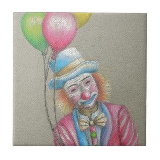 smiley clown tile