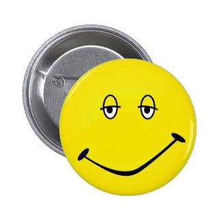 Smiley cocido pin redondo 5 cm