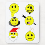 Smiley Collage Mouse Pad