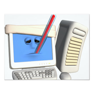 Smiley Computer Virus Card