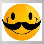Smiley con el bigote impresiones