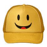 Smiley con la cara de la lengua gorros