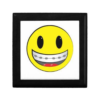 Smiley con los apoyos caja de regalo