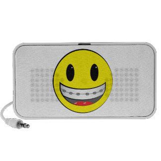 Smiley con los apoyos iPhone altavoz