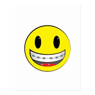 Smiley con los apoyos postal