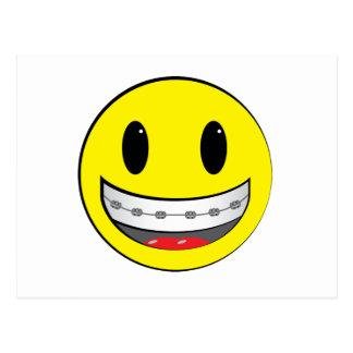 Smiley con los apoyos tarjeta postal