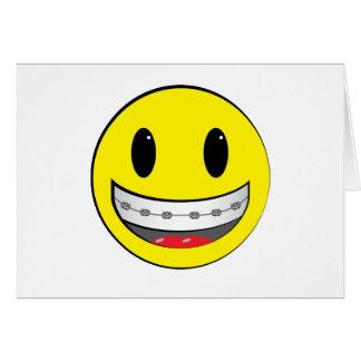 Smiley con los apoyos tarjetas