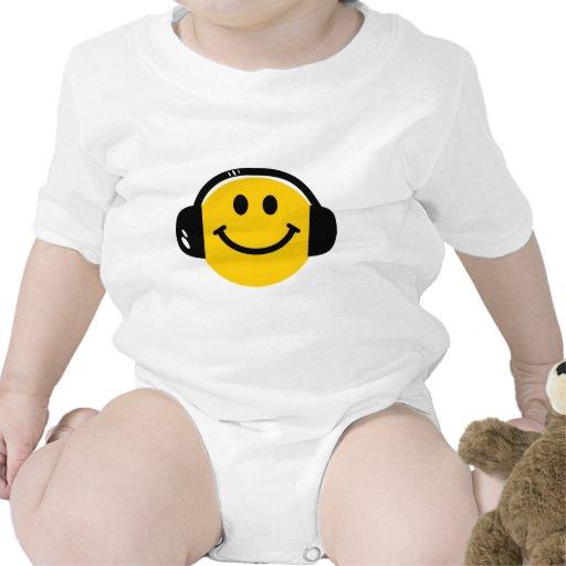 Smiley con los auriculares traje de bebé