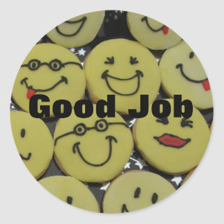 Smiley Cookies Classic Round Sticker