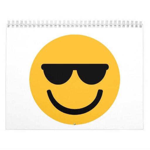 Smiley cool sunglasses calendars
