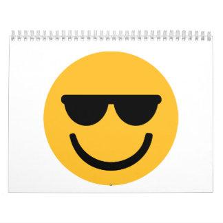 Smiley cool sunglasses calendar