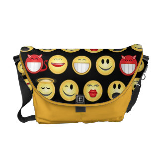 smiley courier bag