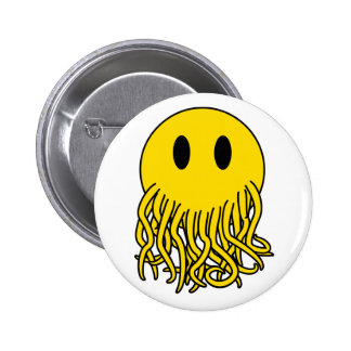 Smiley Cthulhu Pinback Button