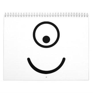 Smiley cyclope eye calendar
