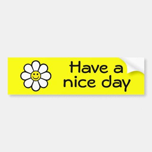 Smiley Daisy Bumper Stickers