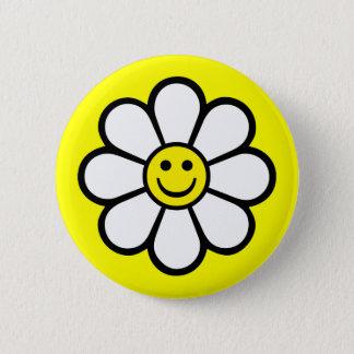Smiley Daisy Button