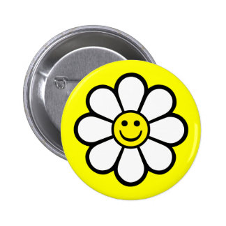 Smiley Daisy Buttons