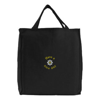 Smiley Daisy Embroidered Bags