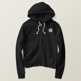 Smiley Daisy Embroidered Hoodie