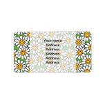 Smiley Daisy Flowers Pattern Address Label