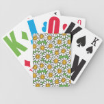 Smiley Daisy Flowers Pattern Bicycle Card Deck