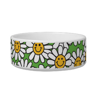 Smiley Daisy Flowers Pattern Bowl