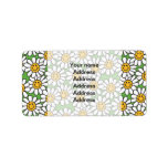 Smiley Daisy Flowers Pattern Labels
