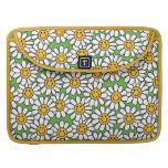 Smiley Daisy Flowers Pattern MacBook Pro Sleeves